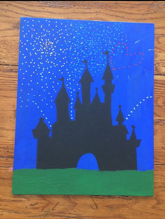 Easy Disney Paintings On Canvas Painting Ideas