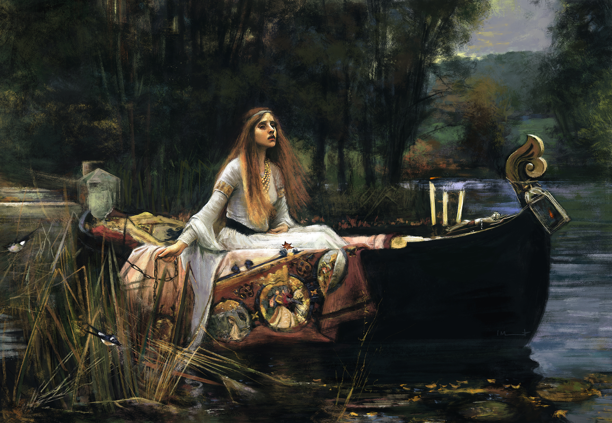 a literary analysis of the lady of shalott in the crucible From verse to visual: an analysis of alfred tennyson and william holman hunt's the lady of shalott to ken daley who helped me see things from a literary point.