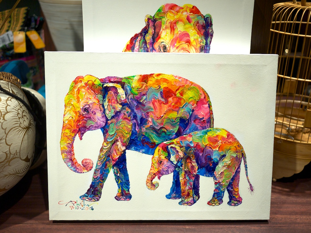 Cute elephant painting