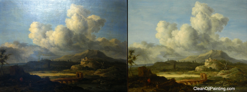 Cleaning Oil On Board Paintings