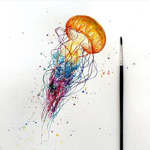 Abstract Jellyfish Painting