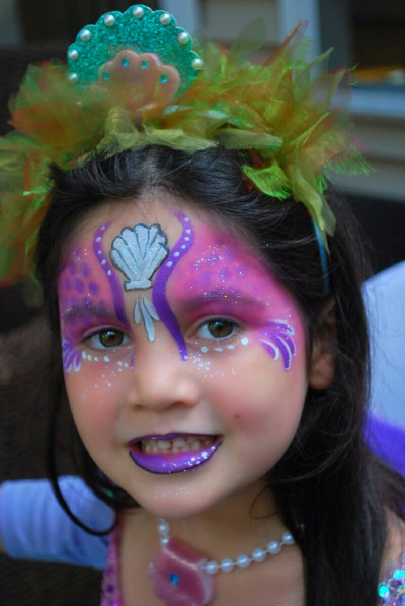 Mermaid Face Paintings