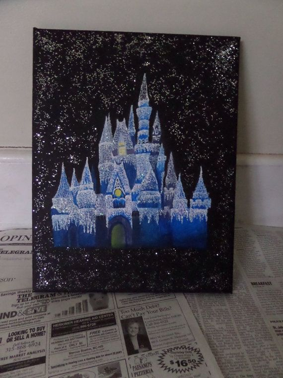 Best Paintings For Disney Castle Silhouette Painting With Easy