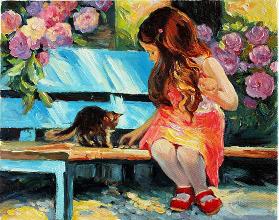 Kids oil paintings for Canvas painting for kids