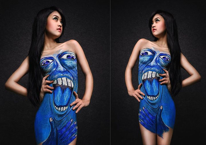 Model Hot Bugil Indonesia: Indonesia Body Paintings