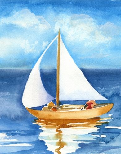 Watercolor Sailboat paintings