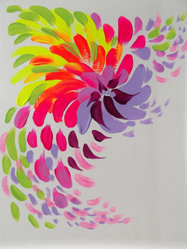 Simple Abstract Art Flowers
