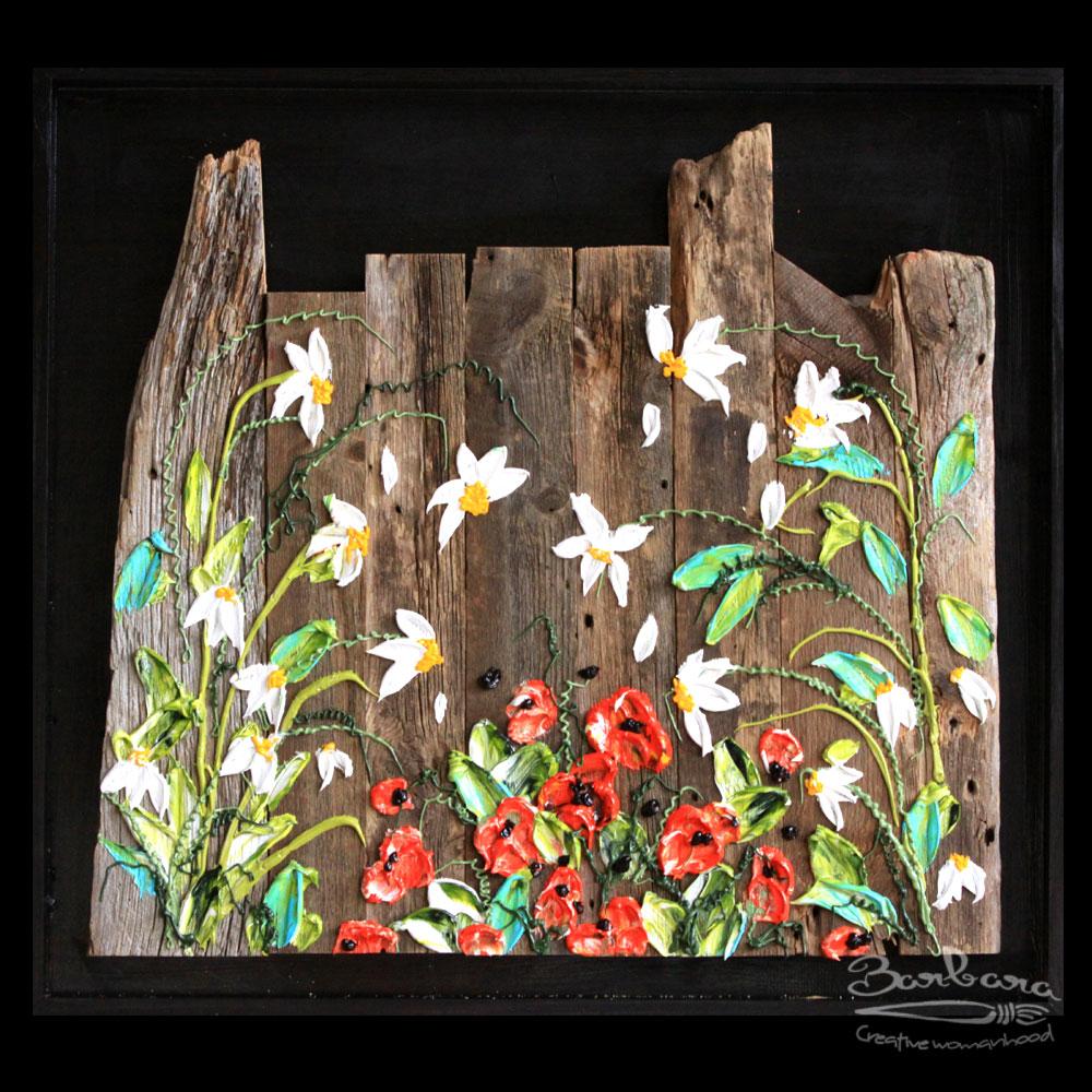 Wood Mural paintings