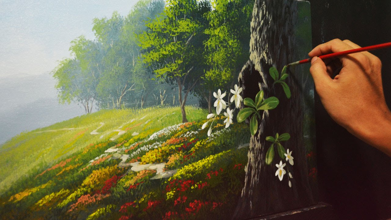 Youtube Acrylic paintings