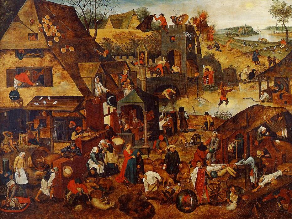 an analysis of the topic of the flemish painters and the role of pieter brueghel Pieter bruegel the elder, the dutch proverbs, 1559, oil on oak, 117 x 163 cm gossaert, saint luke painting the madonna van orley and de pannemaker.