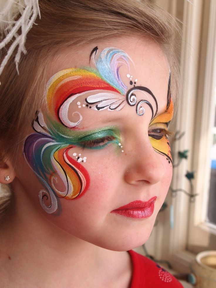 Rainbow Face Paintings