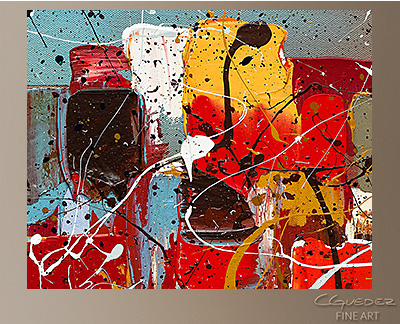 Hashtag Happy - Abstract Art Painting by Carmen Guedez
