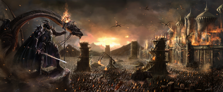 Fantasy medieval battle art