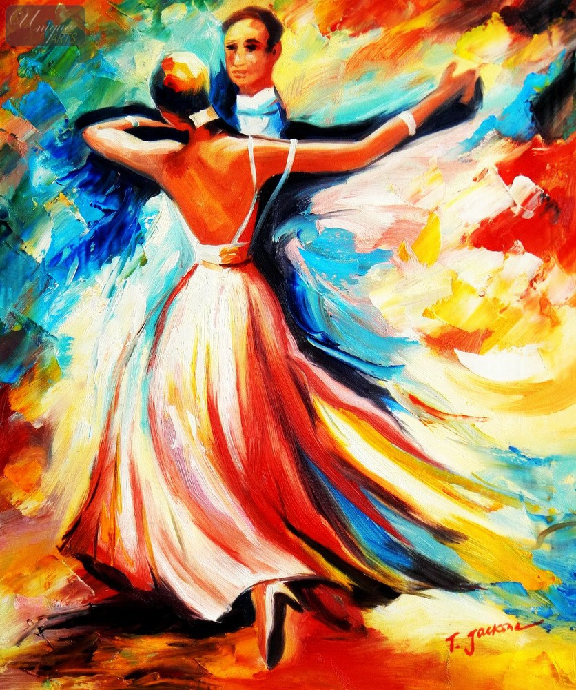Contemporary dance paintings for Bilder modern art