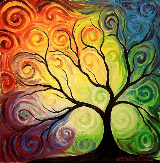 Colorful Tree Paintings