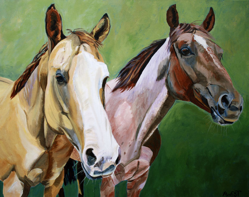 simple horse paintings