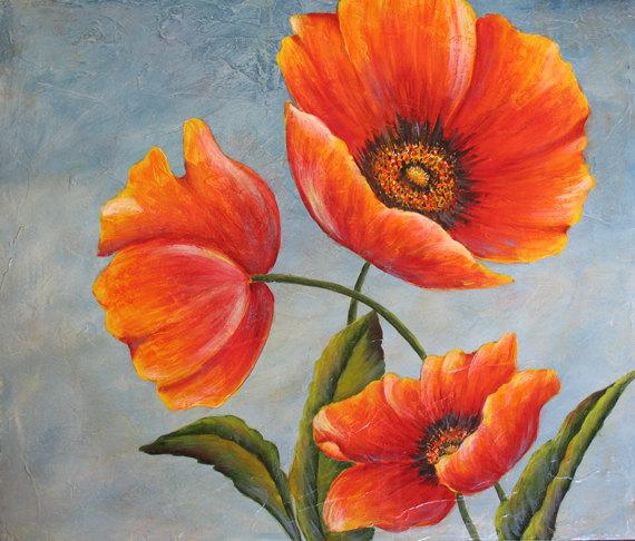 Poppy flower paintings poppy flower painting painting mightylinksfo