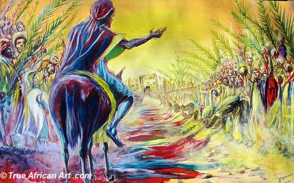 Image result for palm sunday procession contemporary art