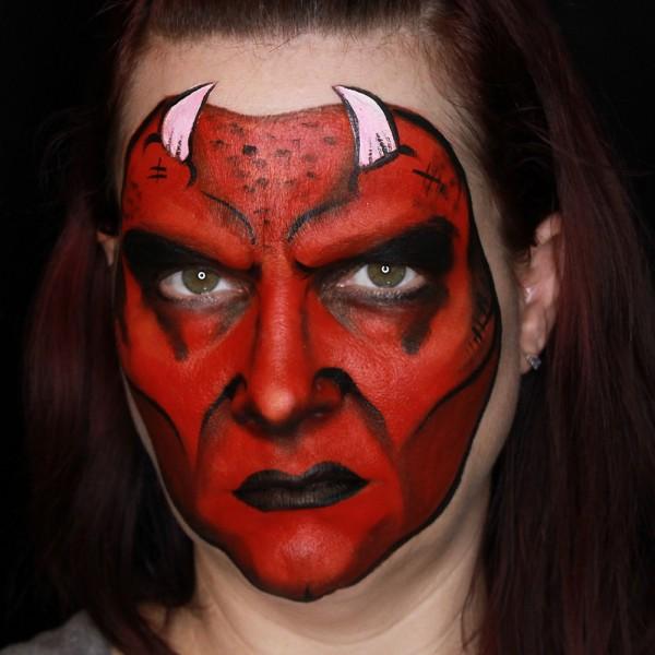 Devil Face Paintings