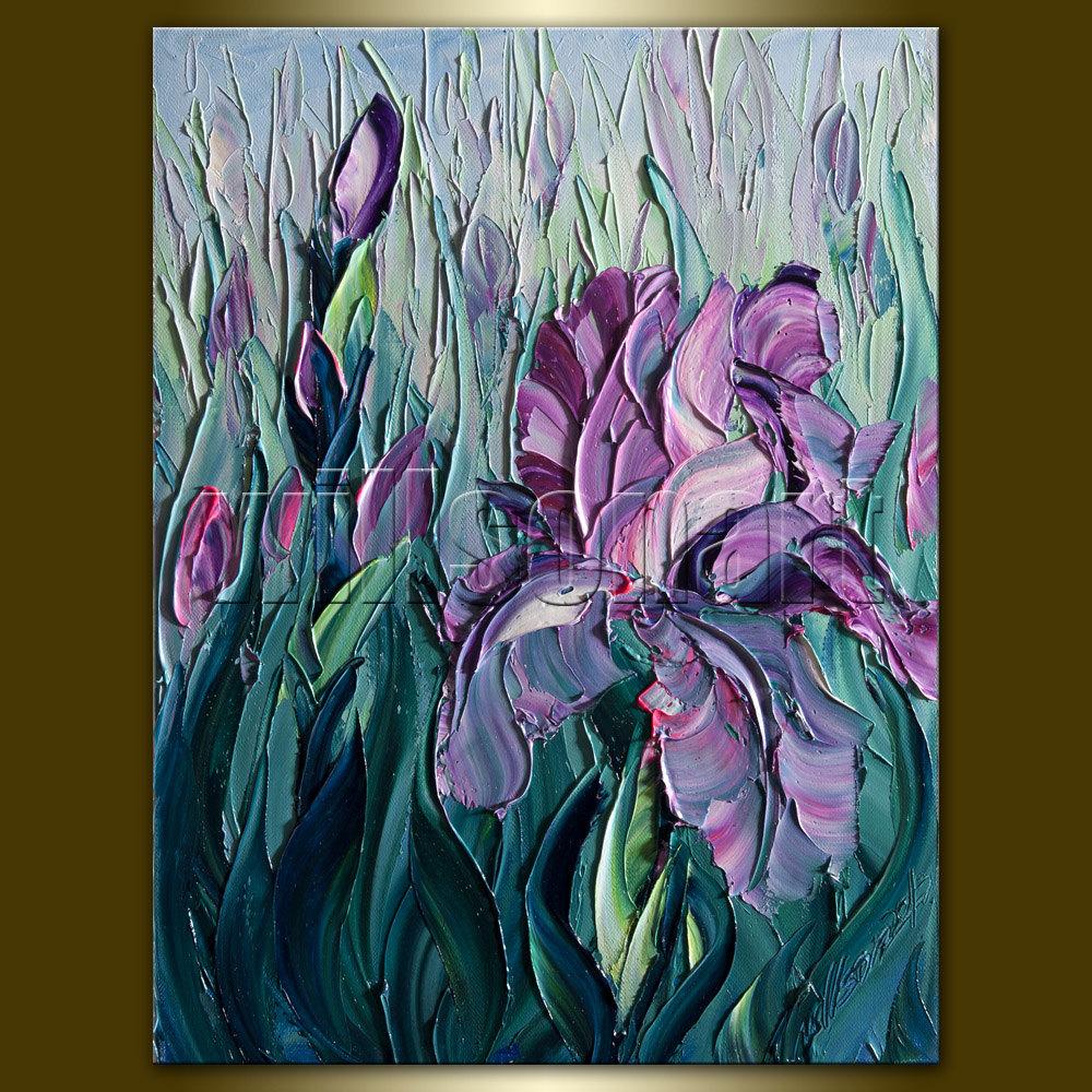 Iris Oil paintings