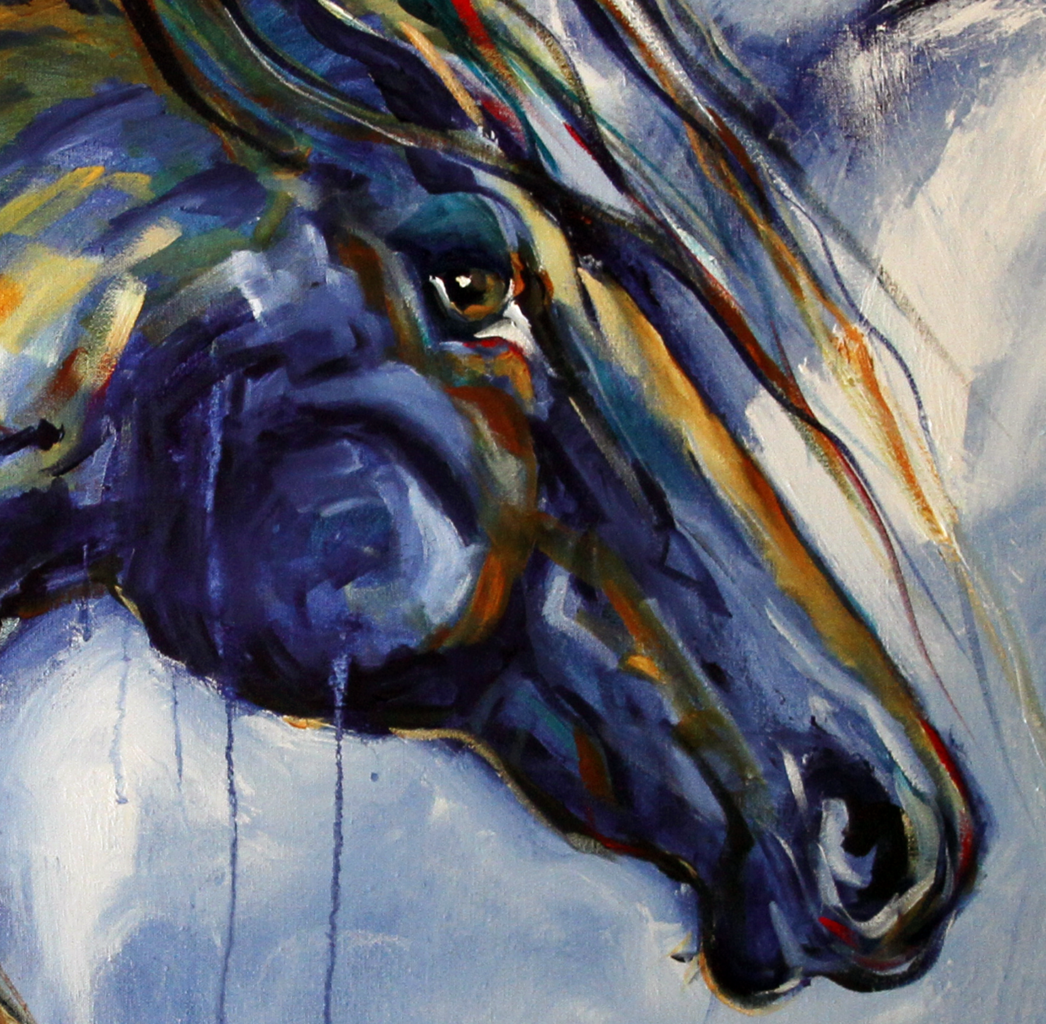 Simple Abstract Horse Art