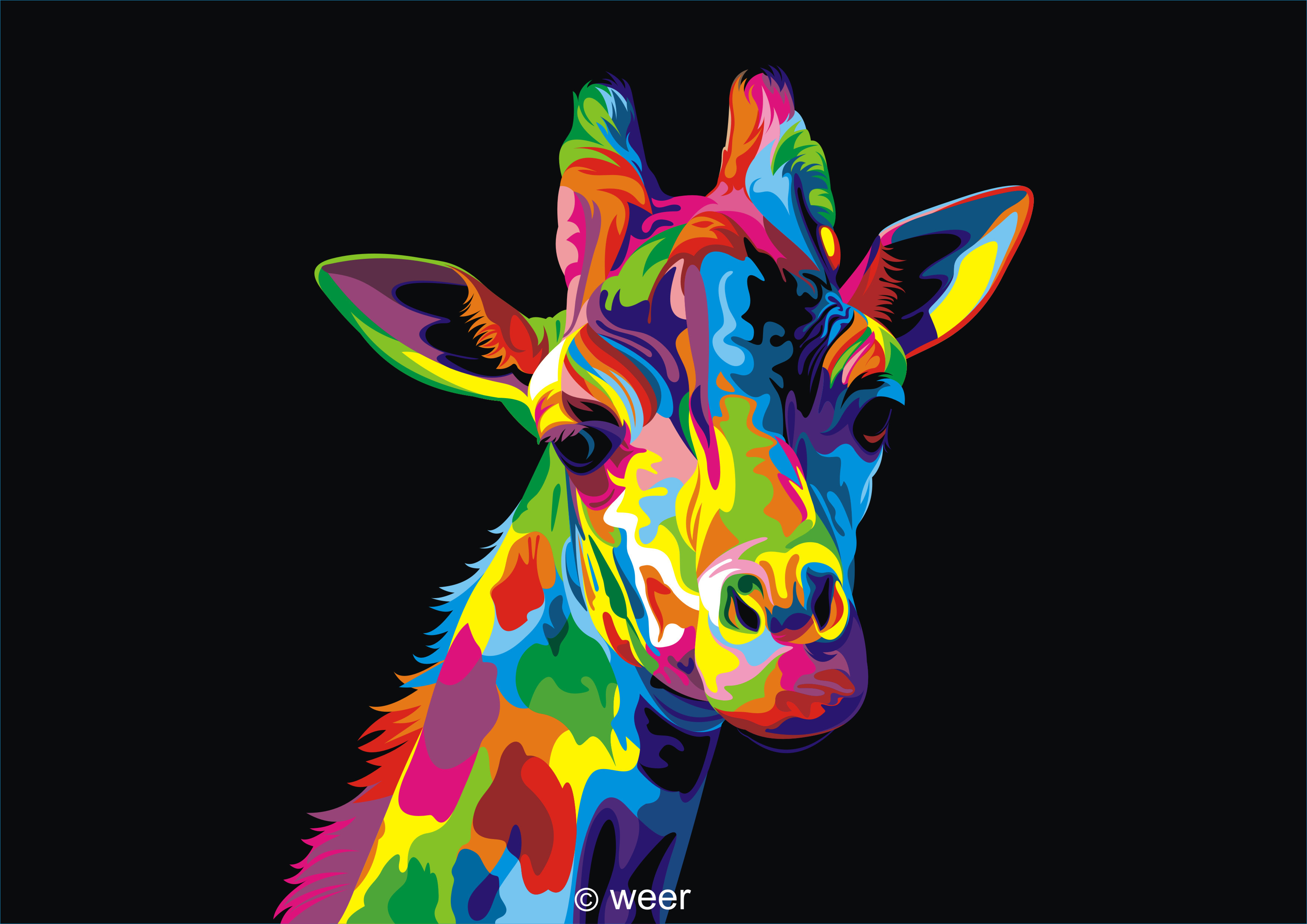 colorful animal paintings