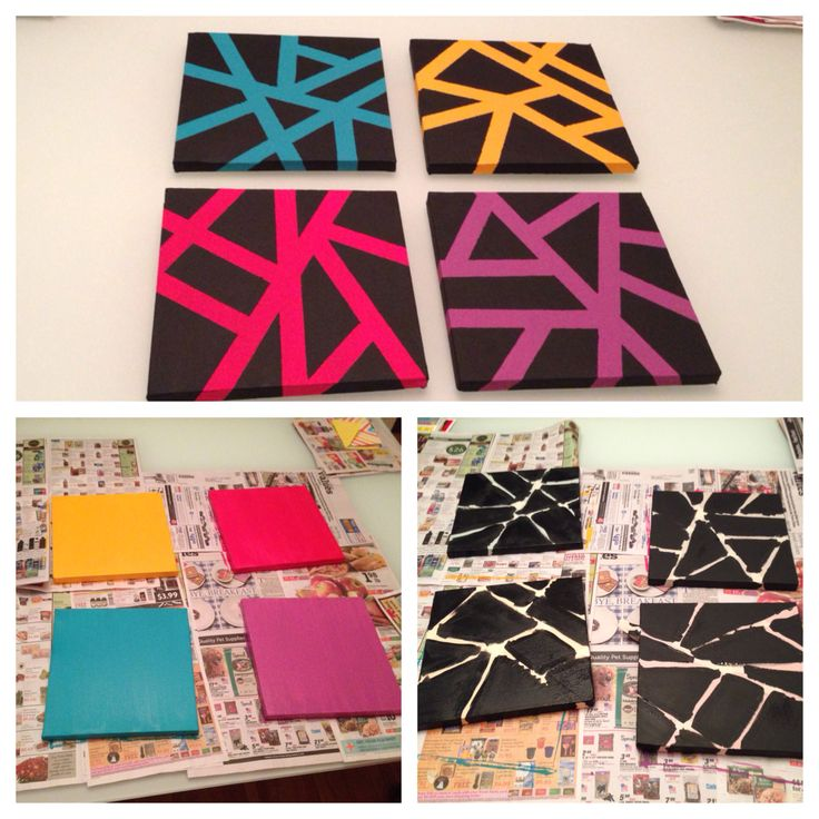 Painters Tape Canvas Easy Craft Ideas