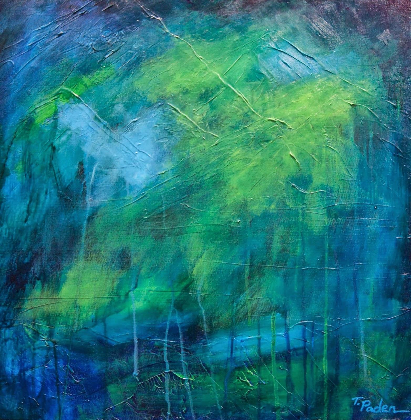 Blue Green Paintings