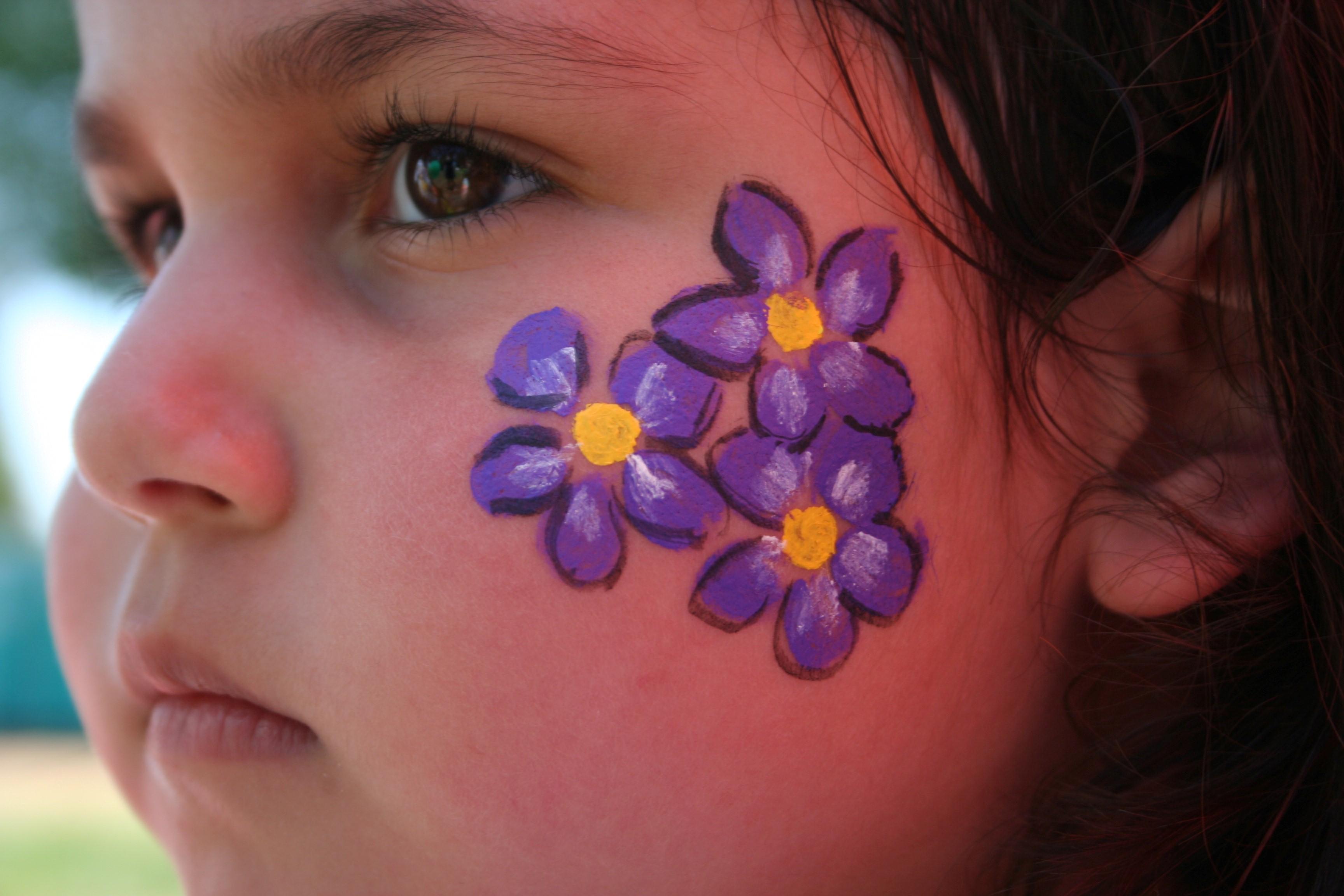Easy Hawaiian Flower Face Paint Face Paint Ideas