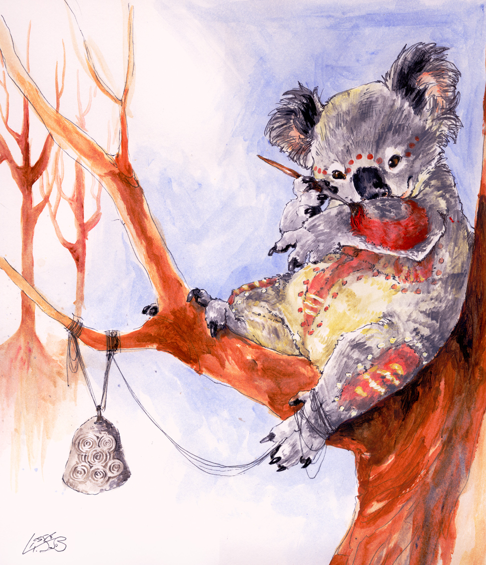 картинка коала с лисой днем парашютистов