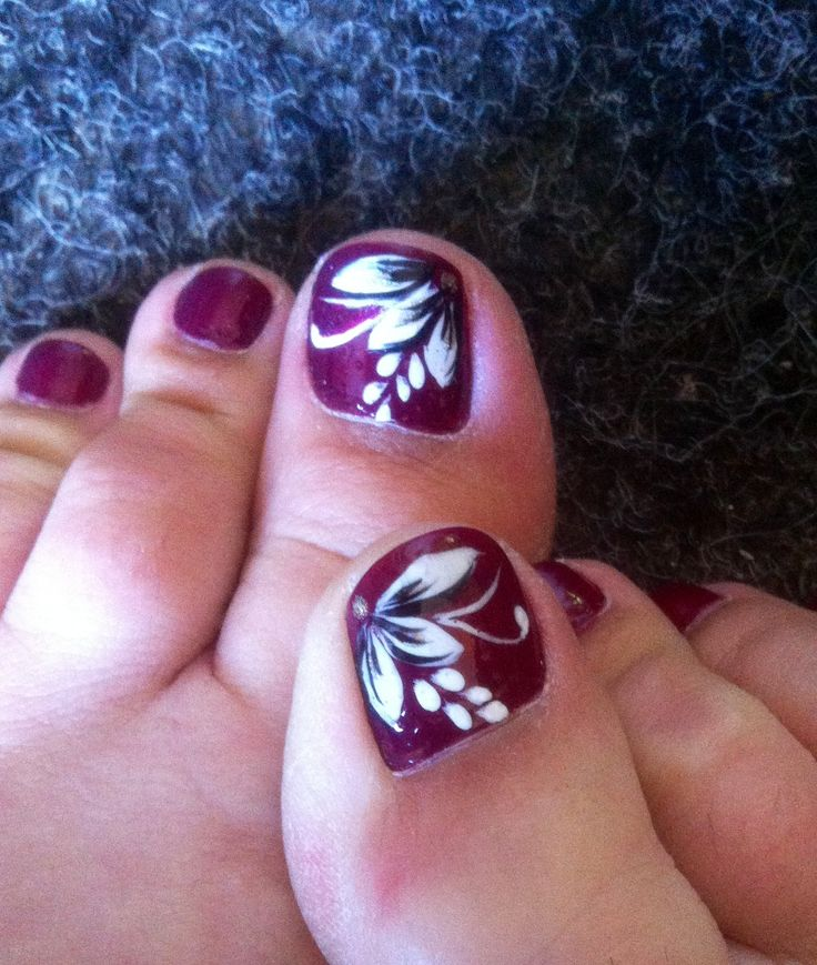 Nail Art Flowers For Toes - Flowers Healthy