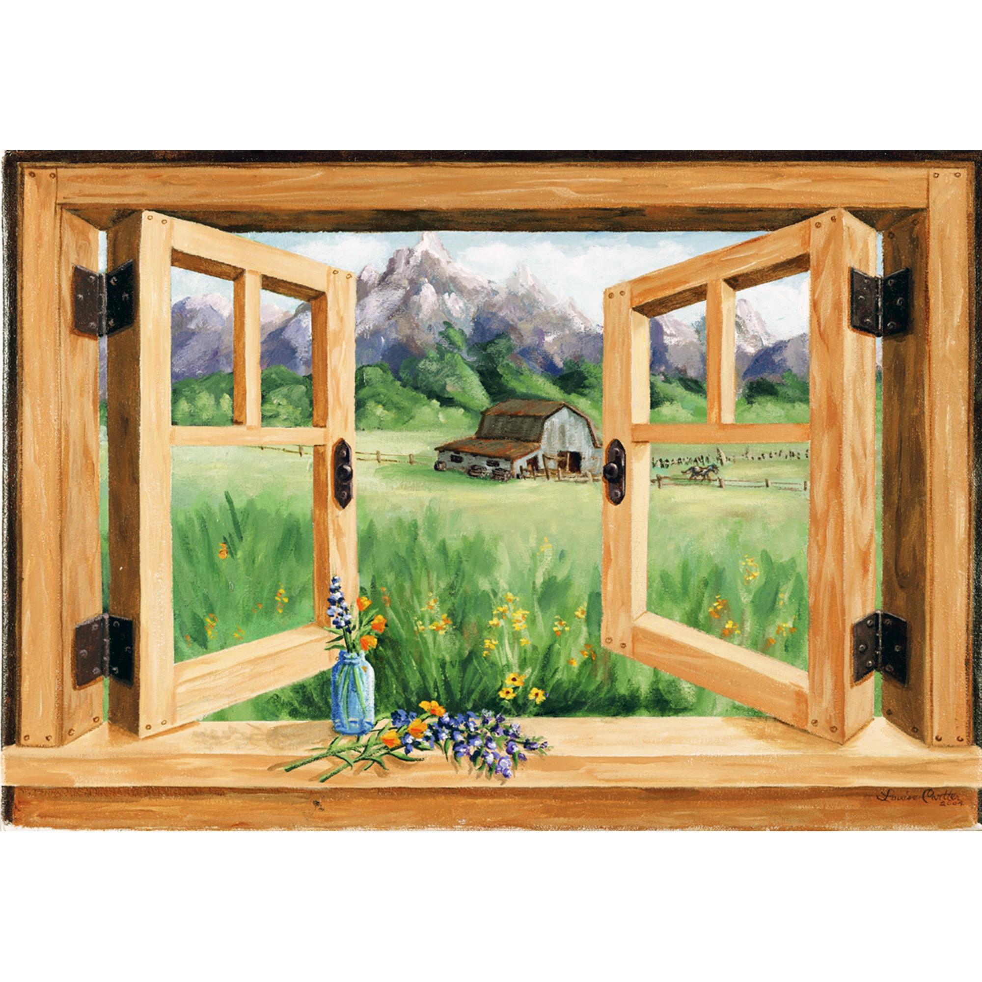 Faux Window Paintings