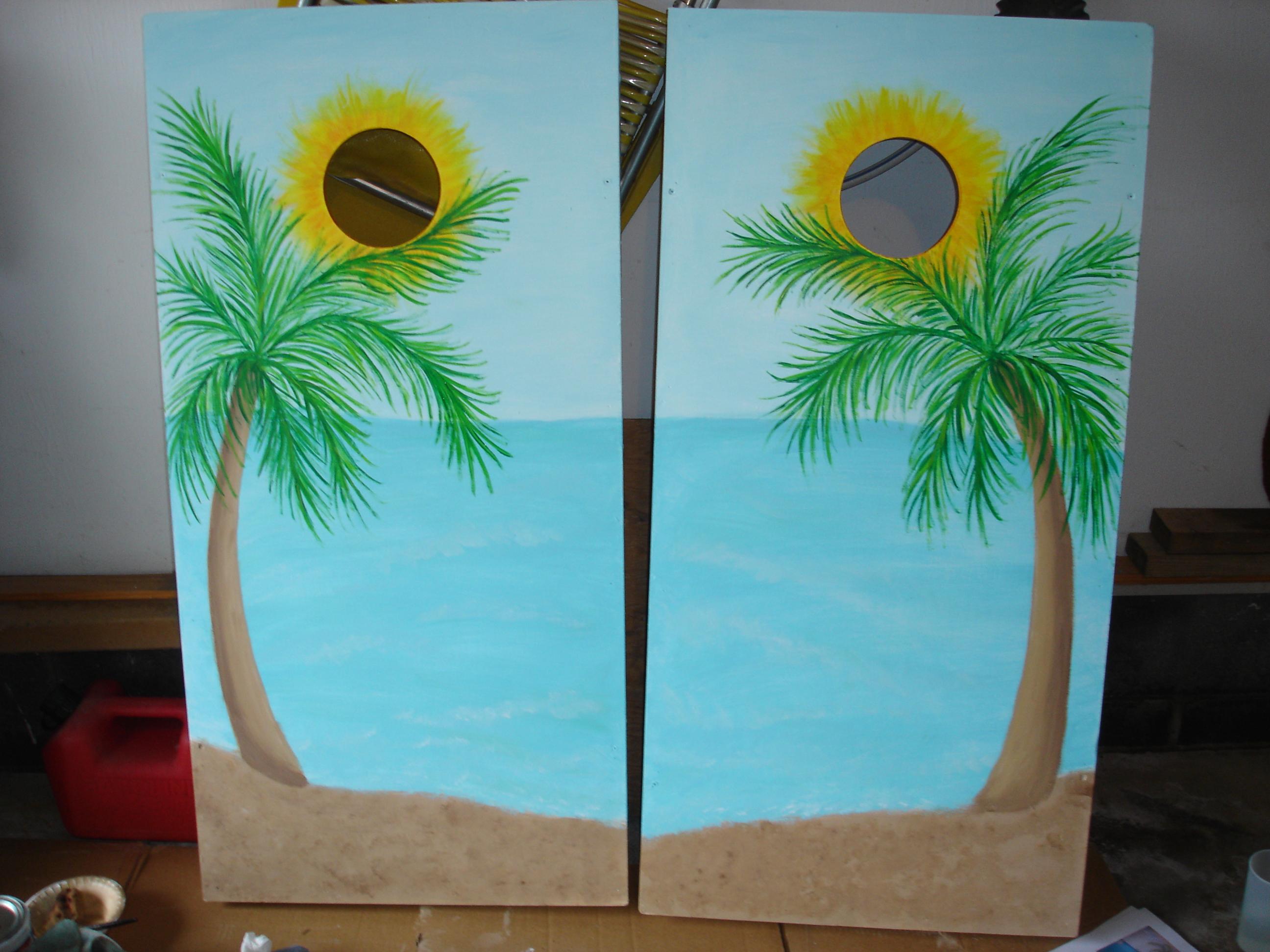 Cornhole Board Paintings