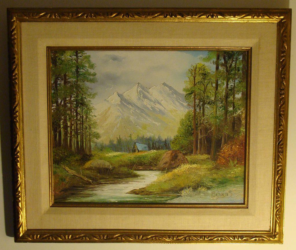 Framed Landscape paintings
