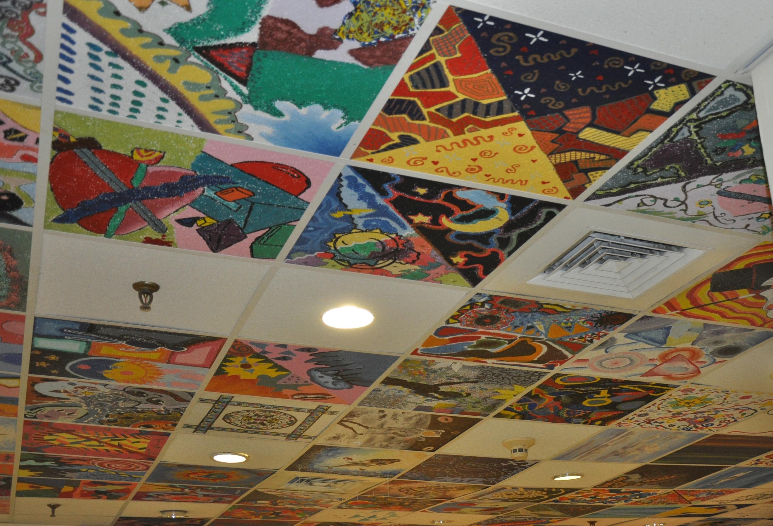 Ceiling Tile Paintings Tile Design Ideas