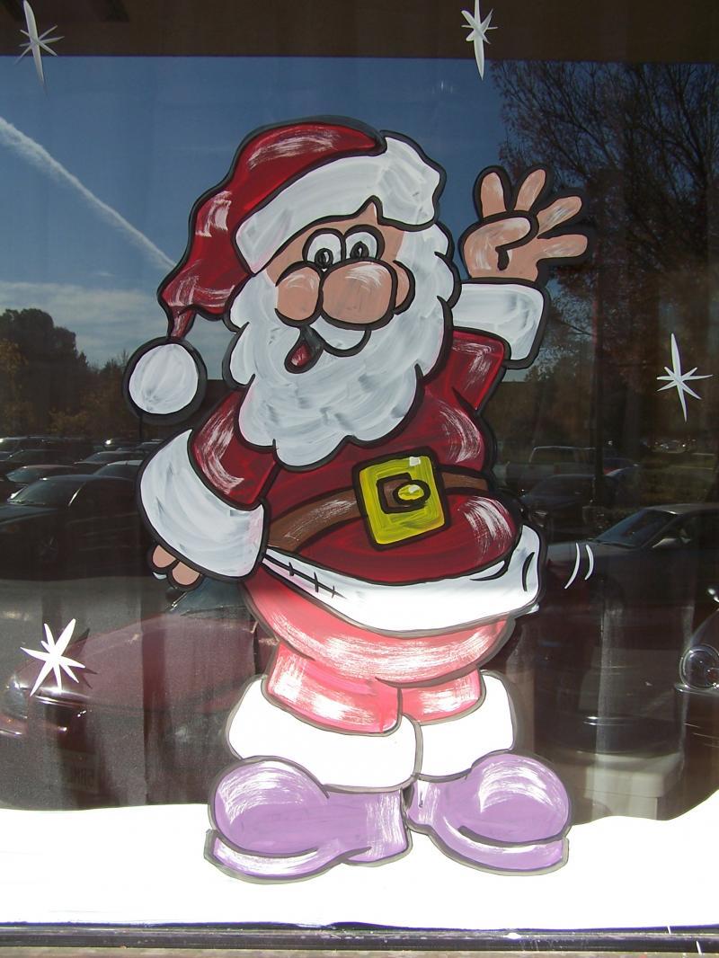 Santa Window Paintings