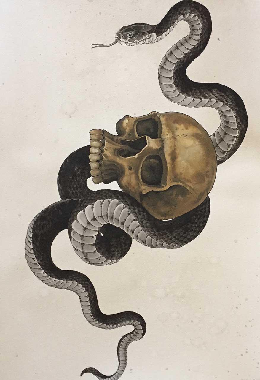 Rattlesnake paintings - Peinture effet serpent ...