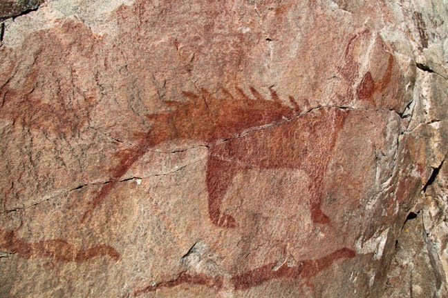 Image result for cave drawing dinosaur
