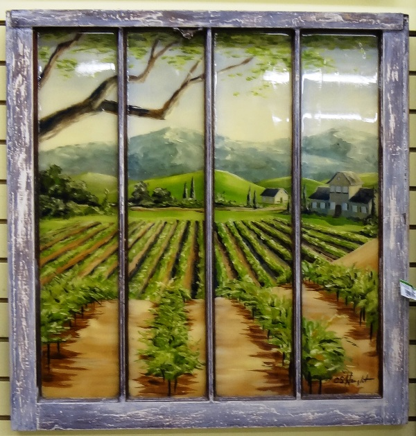D Paintings On Panes Of Glass