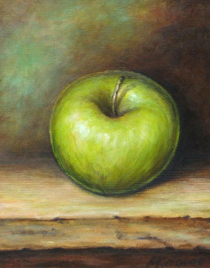 картина яблоко на руке холст фото можете купить наличный