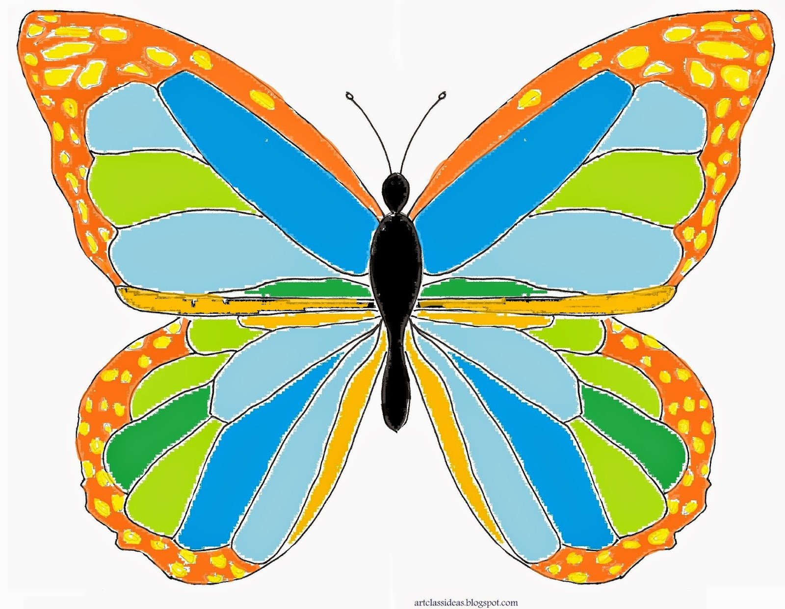 Butterfly Symmetry Art Project