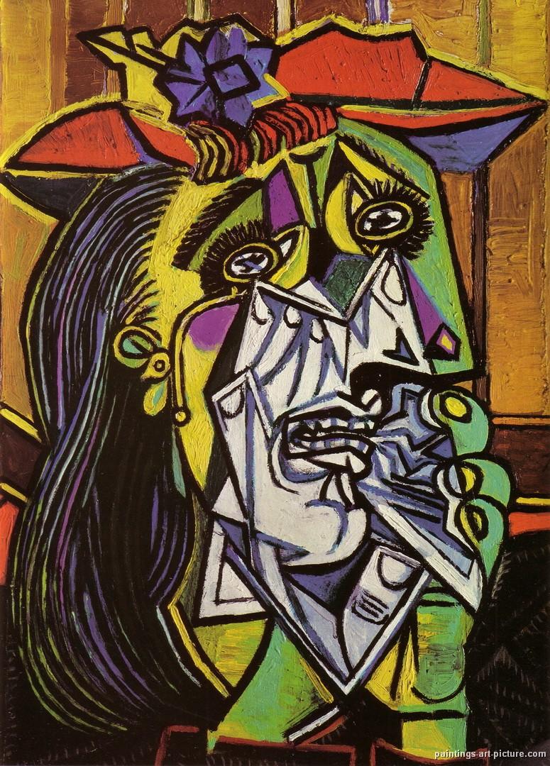 Portrait of Dora Maar 1941 Pablo Picasso Poster Canvas Picture Art Print A3-A4