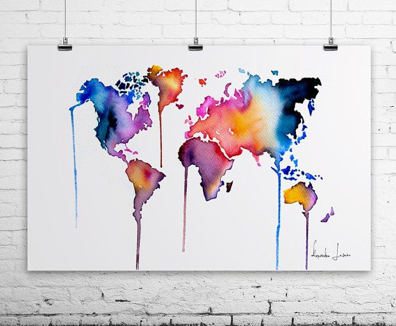 World map paintings gumiabroncs Choice Image