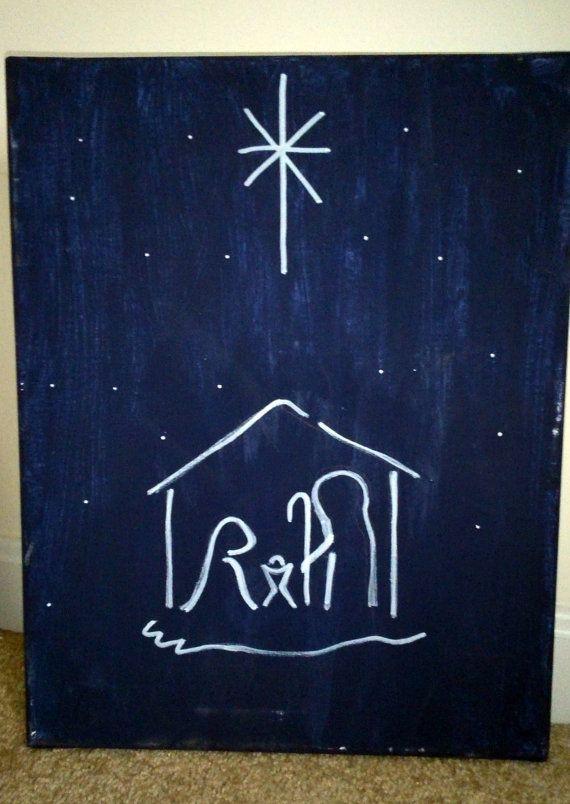 Simple Christmas Paintings