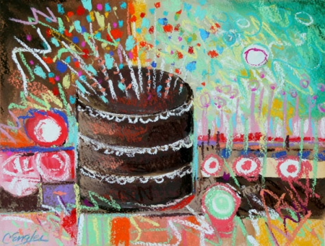 Birthday Cake paintings