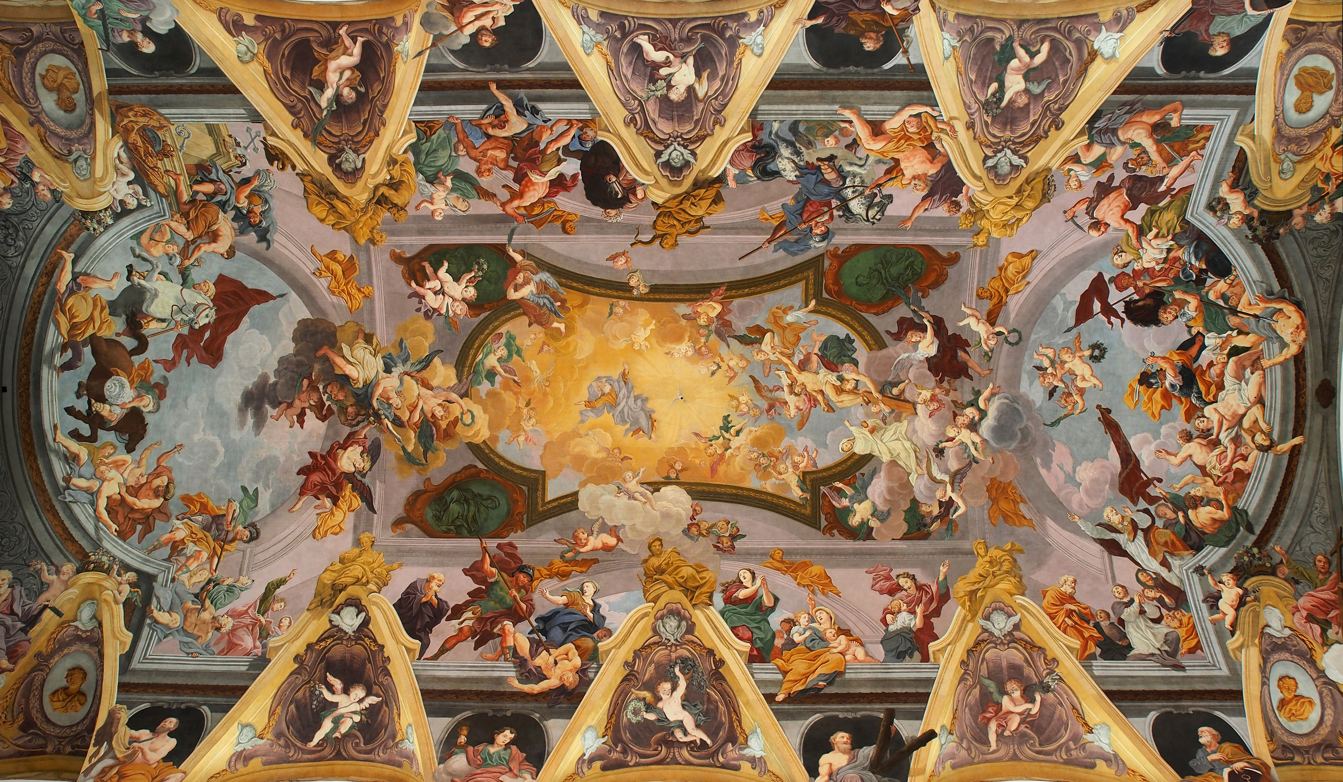 Baroque ceiling paintings dailygadgetfo Image collections