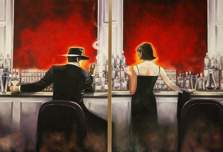 Cigar Bar paintings