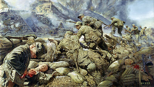 Korean war paintings - Battlefield screensaver ...