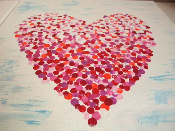 Canvas Painting Easy Paintings For Valentines Day Inspired