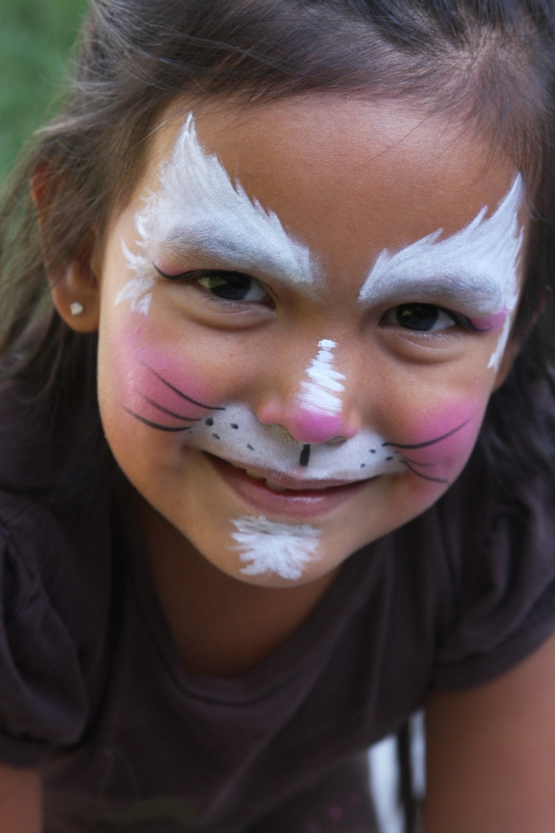 kitty face paintings